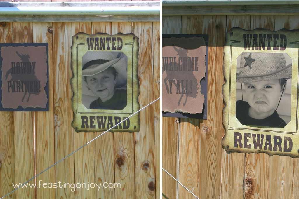 Cowboy Birthday Party Wanted Signs