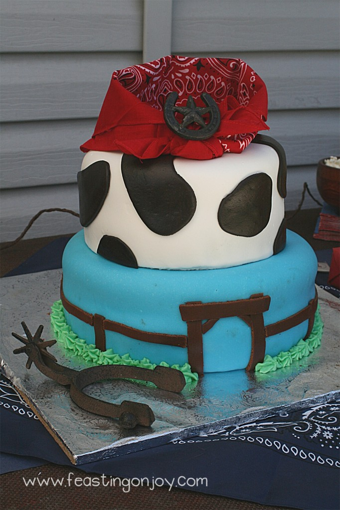 Cowboy Birthday party cake