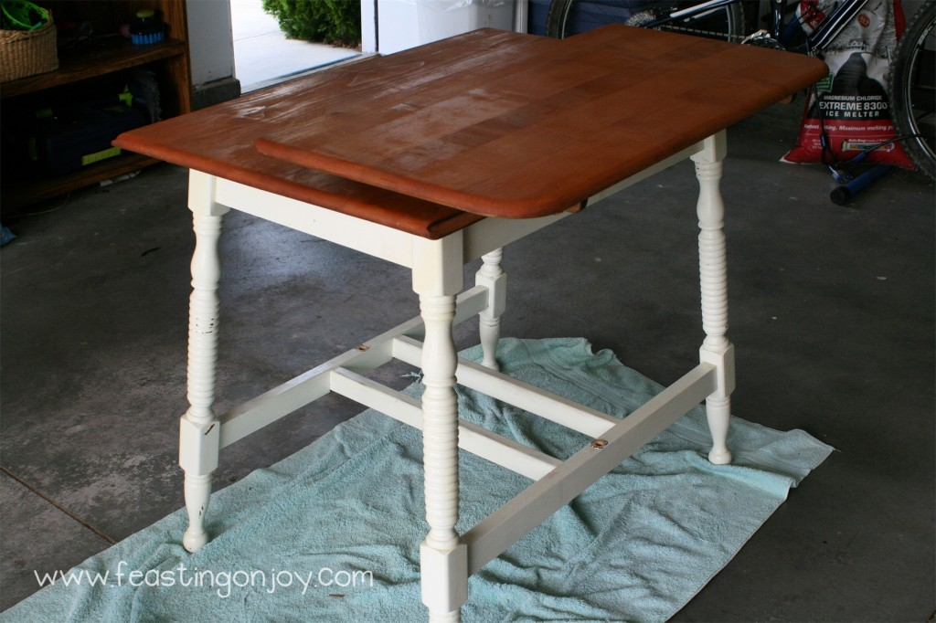 Unfinished schoolroom table